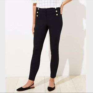 NWT LOFT SAILOR HIGH WAIST SKINNY ANKLE PANTS